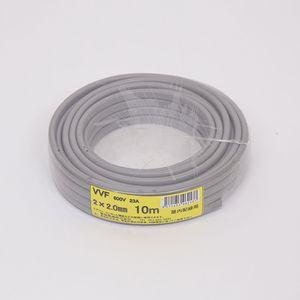愛知電線 VVF ケーブル2心 2.0mm 10m 灰色 VVF2×2.0M10
