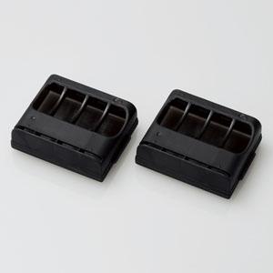 ELECOM 電池ケース 単3電池用 4本収納 2個セット クリアブラック BC-CELL01BK