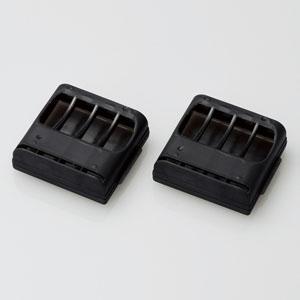 ELECOM 電池ケース 単4電池用 4本収納 2個セット クリアブラック BC-CELL02BK