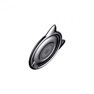 電材堂 【生産完了品】スマートフォンリング キャットイヤータイプ スタンド機能 落下防止 車載ホルダーブラック DSUMA-01