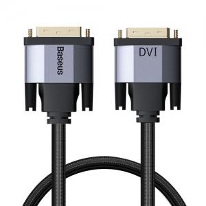 電材堂 ディスプレイケーブル 《Enjoymentシリーズ》 DVIオス-DVIオス 長さ1m ダークグレー DCAKSX-Q0G