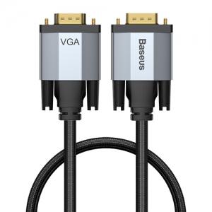 電材堂 【生産完了品】ディスプレイケーブル 《Enjoymentシリーズ》 VGAオス-VGAオス 長さ1m ダークグレー DCAKSX-T0G