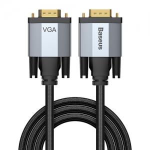 電材堂 ディスプレイケーブル 《Enjoymentシリーズ》 VGAオス-VGAオス 長さ2m ダークグレー DCAKSX-U0G