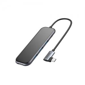 電材堂 USBハブアダプター Type-C用 USB3.0×3+HD4K+PD ディープグレー DCAHUB-BZ0G