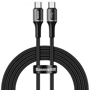 電材堂 USBケーブル Type-C PD2.0対応 長さ2m ブラック DCATGH-K01