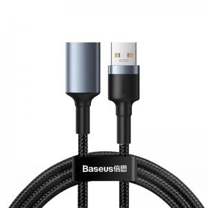 電材堂 USB延長ケーブル USB3.0オス-USB3.0メス 長さ1m ダークグレー DCADKLF-B0G