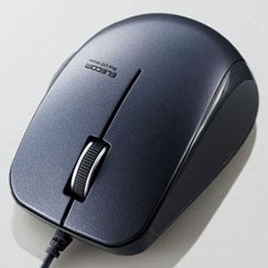ELECOM 有線マウス 《手にぴたシリーズ》 BlueLED方式 Mサイズ 3ボタン ブラック M-BL27UBBK
