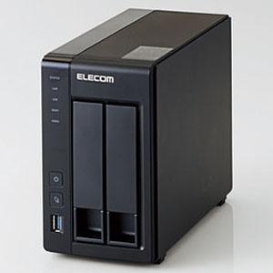 ELECOM Linux搭載NAS デスクトップ型 2ベイタイプ 2TBモデル HDD2台フルセット NSB-5A2T2BL
