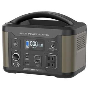 多摩電子工業 ポータブル電源 充電式 容量506Wh AC・USB・DCソケットポート搭載 TL107G