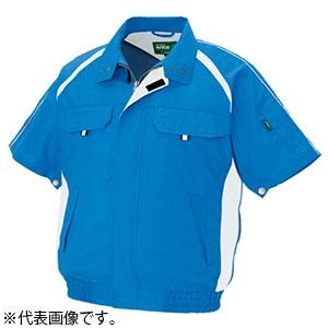アイトス 空調服™ 《エコワーカーモデル》 半袖ブルゾンタイプ Lサイズ ロイヤルブルー AZ-1798-006-L