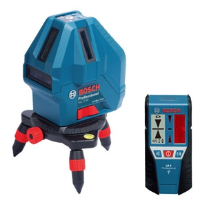 BOSCH レーザー墨出し器セット 電池式 本体+受光器+三脚 GLL5-50XSET