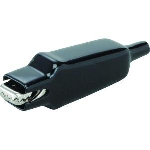 中発販売 スタークリップ DC500V 1000MΩ以上 10A ビニールカバー付 黒 SCSV10AB