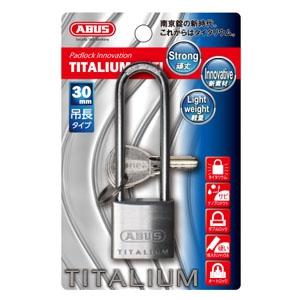 ABUS 【ケース販売特価 4個セット】タイタリウム 64TIシリーズ 吊長タイプ ブリスターパック 30HBKD BP-64TI/30HBKD
