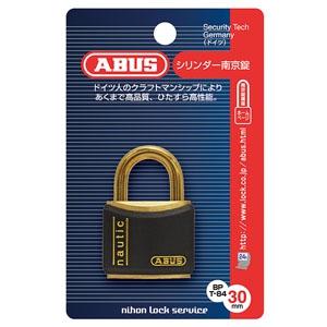 ABUS 【ケース販売特価 5個セット】真鍮南京錠 T84MBシリーズ ブリスターパック 30mm 樹脂カバー付 BP-T84MB/30