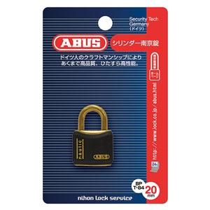 ABUS 【ケース販売特価 5個セット】真鍮南京錠 T84MBシリーズ ブリスターパック 20mm 樹脂カバー付 BP-T84MB/20