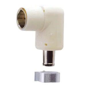 マスプロ アンテナプラグ 5Cケーブル用 シールド型 3224MHz対応 ホワイト AP5CW(W)