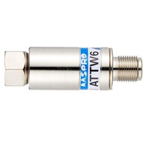 マスプロ 減衰器(アッテネーター) 屋内用 シールド型 6dB 3224MHz対応 ATTW6