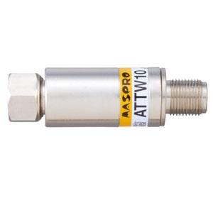 マスプロ 減衰器(アッテネーター) 屋内用 シールド型 10dB 3224MHz対応 ATTW10