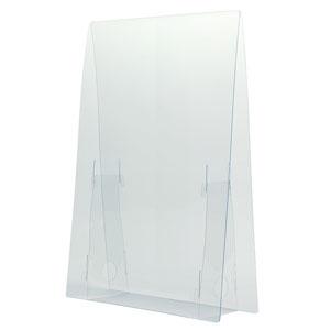 アーテック 飛沫防止透明パーテーション 小 0.5mm厚タイプ 両面保護フィルム付 051075