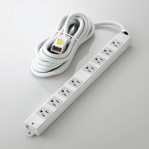 ELECOM 法人用タップ ハーネスタップ 8口 抜け止めなし 5m TWHRM3850NN/RS