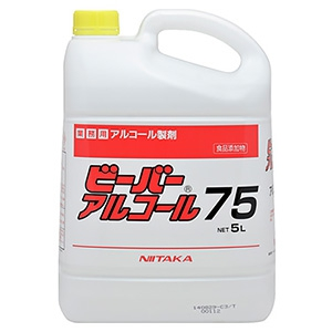 ニイタカ 【生産完了品】アルコール製剤 《ビーバーアルコール75》 内容量5L 270532
