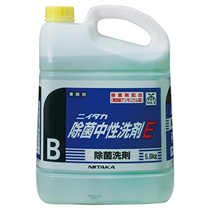 ニイタカ 除菌中性洗剤E 液体タイプ 内容量5kg 231130