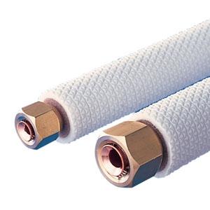 関東器材 エアコン用配管セット 2分3分ペアタイプ パイプのみ 長さ2.5m 25P-P