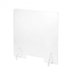 サンワサプライ 飛沫防止用透明アクリル卓上パーティション(小窓付き) SPT-DP110C