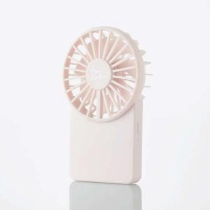 ELECOM USB扇風機 充電可能 薄型ハンディ カラビナ付 ピンク FAN-U212PN