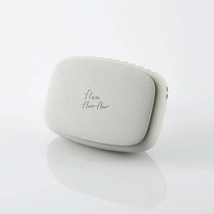 ELECOM USB扇風機 充電可能 ハンズフリー ネックストラップ付 クリップ付 グレー FAN-U216GY