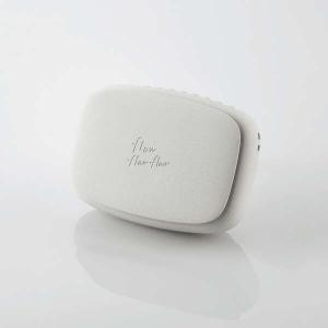 ELECOM USB扇風機 充電可能 ハンズフリー ネックストラップ付 クリップ付 ホワイト FAN-U216WH