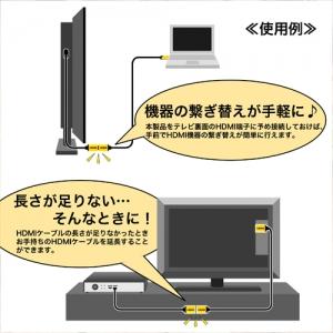 ホーリック HDMI延長ケーブル L型90度 1m ゴールド HDMI延長ケーブル L型90度 1m ゴールド HLFM10-587GD 画像3