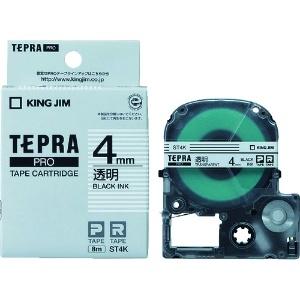 キングジム PROテープカートリッジ・透明ラベル ST4K