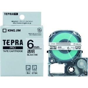 キングジム PROテープカートリッジ・透明ラベル ST6K