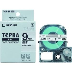 キングジム PROテープカートリッジ・透明ラベル ST9K