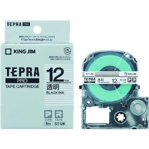 キングジム PROテープカートリッジ・透明ラベル ST12K
