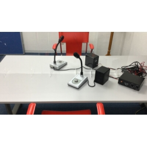 オースミ電機 飛沫拡散防止対話セット アンプ スピーカ マイク付き MTS-01