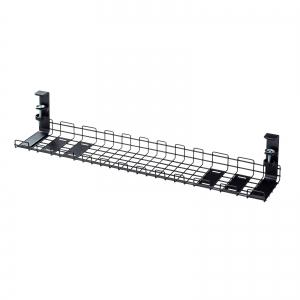 サンワサプライ ケーブル配線トレー ワイヤー Lサイズ 汎用タイプ  ブラック CB-CT3BK