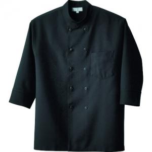 アイトス コックシャツ(男女兼用) ブラック SS AZ861201010SS
