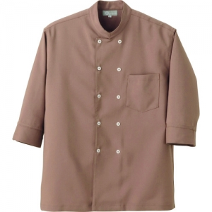 アイトス コックシャツ(男女兼用) ブラウン SS AZ861201022SS
