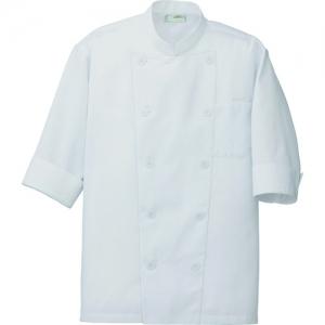 アイトス コックシャツ(男女兼用) ホワイト SS AZ861221001SS