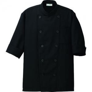 アイトス コックシャツ(男女兼用) ブラック 3S AZ8612210103S