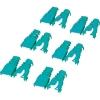 ELECOM 【在庫限り】コネクタ保護カバー 後付けタイプ 6個入 グリーン LD-ABGN6