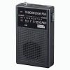 ヤザワ 【在庫限り】長寿命AM・FMハンディラジオ アナログ方式 モノラルイヤホン付 ブラック RD31BK