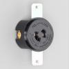 アメリカン電機 パネル用コンセント 引掛形 2P 15A 125V 圧着端子式 40-P