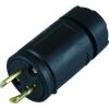 アメリカン電機 さし込みプラグ 引掛形 2P 15A 125V 圧着端子式 ナイロンカバータイプ 黒色 2112N