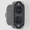 アメリカン電機 ダブルコネクタボディ™ 引掛形・2ヶ口 接地形2P 15A 125V 圧着端子式・引締式 3113R