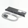 アメリカン電機 1Uコンセントバー 抜止形・6ヶ口 接地形2P 30A 250V 30A(NEMA L6-30)入力プラグ/15A(NEMA L6-15)出力コンセント 15Aサーキットプロテクター・デジタル電流計付 HKC2650PTAM