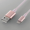 ELECOM 【在庫限り】USBケーブル 耐久タイプ Lightningコネクタ対応 2重シールドタイプ 長さ1.0m ピンク LHC-UALPS10PN